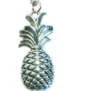 Pineapple Pendant and Chain Necklace
